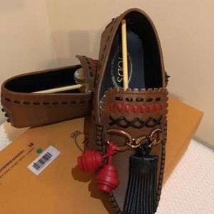 TOD's Brown Gommini Gipsy catena-Limited edition
